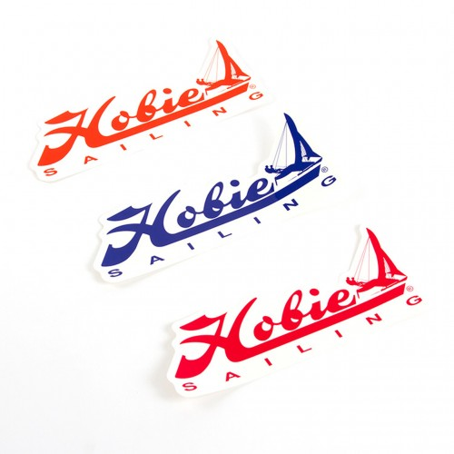 """Adesivo 30cm """"Hobie Sailing"""" Azul / Vermelho / Laranja -  DECAL 12"""" HOBIE SAILING BL/RD/OG"""