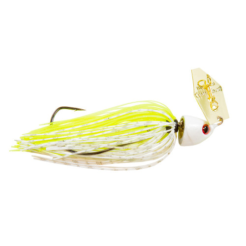 Isca Artificial Chatterbait® Freedom Chartreuse White
